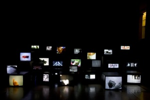 Douglas Gordon, Pretty Much Every Film and Video Work From About 1992 Until Now © Douglas Gordon. Photography credit: Installed for National Galleries of Scotland, 2006. Photography A Reeve