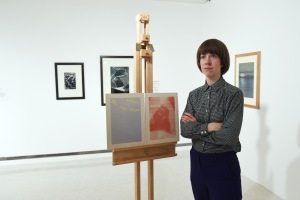 Helen de Main with her work in Ripples on the Pond © Glasgow Life