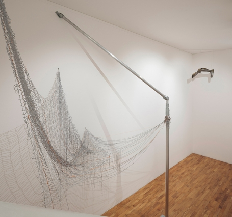 Installation shot with 'Winter Trees V' from Deep in the Heart of Your Brain, Jacqueline Donachie, photo Ruth Clark